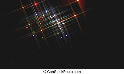 Scintillating Firework Light Rays - Fireworks in night sky...