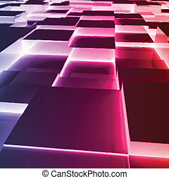 Abstract violet Square Box. Vector