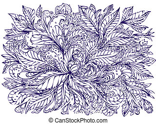 abstract foliage doodle
