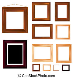 collection of vintage wooden frame