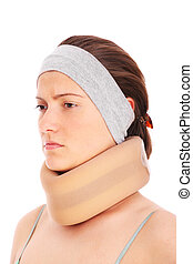 Neck injury - A picture of a young woman with a neck injury...