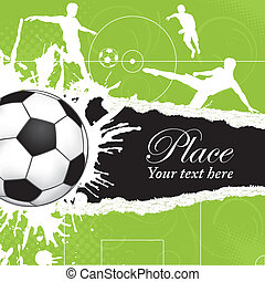 Soccer Ball theme - Soccer Ball on Grunge Background with...