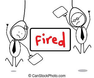 Fired businessman
