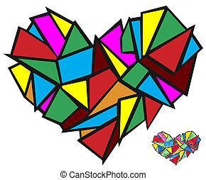 broken heart abstract concept
