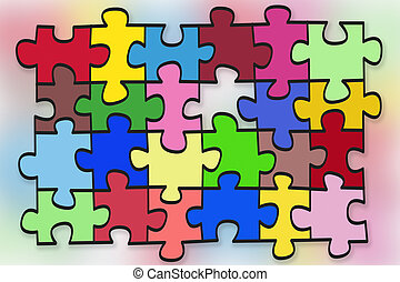 puzzles abstract concept - abstract illustration- puzzles...