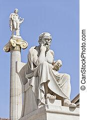 el, antiguo, griego, filósofo, socrates