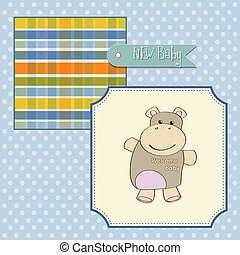 baby shower card with hippo