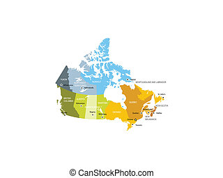 Map of provinces and territories of - Detailed map of...
