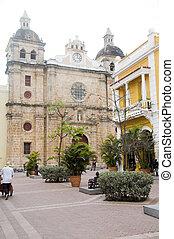 Iglesia Church of San Pedro Claver Cartagena de Indias...