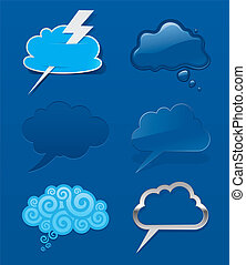 Set of different speech cloud - Vector set of different...