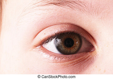 eye - A brown child-like eye