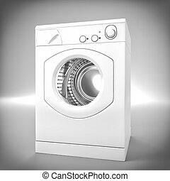 washing machine - fine 3d image of washing machine