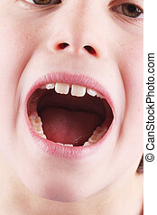 mouth - A screaming child-like mouth