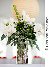 white centerpiece - a large white wedding centerpiece on a...