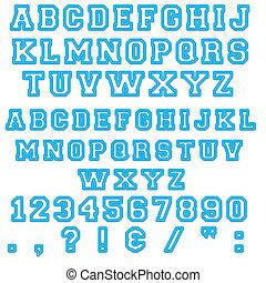 Blue Block Alphabet Letters