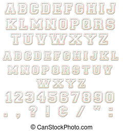Pink & White Block Alphabet Letters