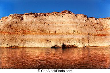 Antelope Canyon Reflection Lake Powell Arizona