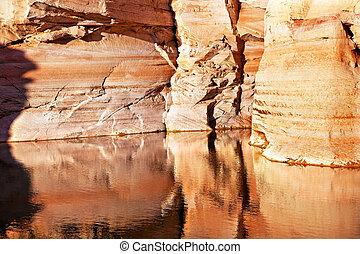 Antelope Slot Canyon Reflection Lake Powell Arizona