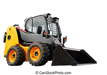 Skid steer loader - Yellow modern skid steer loader