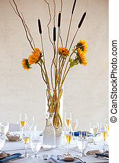 wedding table centerpiece - a large wedding table...