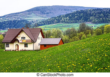 The family home in the mountains