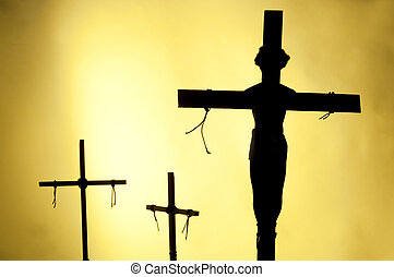 The Crucifixion - Shadow and silhouette of the crucifixion...