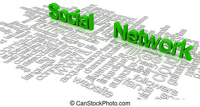 Social network tag cloud