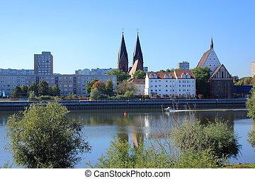 Frankfurt am Oder - Frankfurt (Oder) and River Oder between...