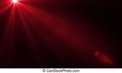 Red background - abstract horizon with glowing sunlight
