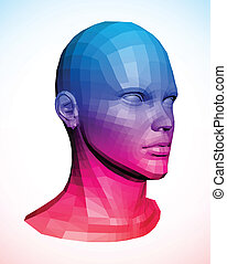 Human head. Abstract vector illustration