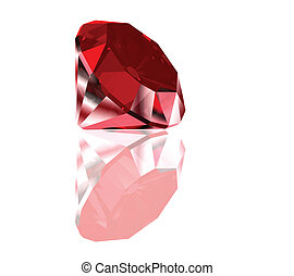 Red diamond isolated on white. Vector - Red diamond isolated...