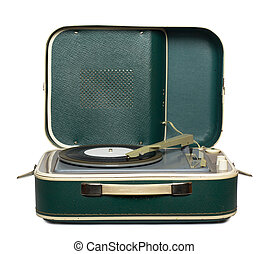 retro, Portable, platine, Vinyle, enregistrement,...