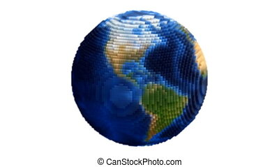 Voxel Planet Earth Globe Spin Loop
