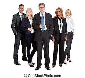 Successful business team standing - Portrait of a successful...