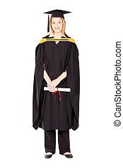 female college graduate - pretty female college graduate in...