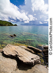 Nkhata Bay scene - A stunning scene of Lake Malawi from the...