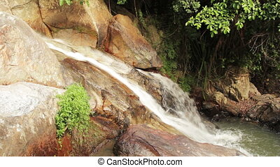 waterfall - small waterfall