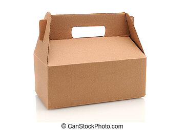 Cardboard Carry-Out Box - A Cardboard Carry our box with...