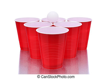 Red Cups and Ping Pong Ball