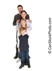 Portrait of happy family with their children - Happy family...