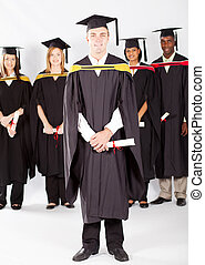 male college student at graduation