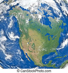 North America from space - Detailed illustration of North...