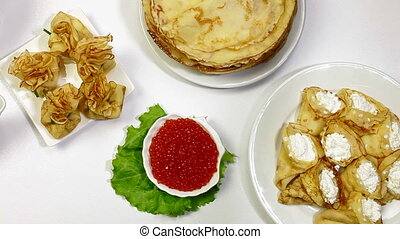 DOLLY: Pancakes on Shrove Tuesday - Pancakes and red caviar...