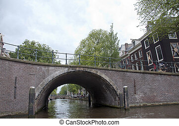 AMSTERDAM. CHANNEL - One of the main canals in Amsterdam -...