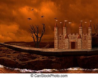 Castle  - lonely castle , dead valley