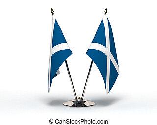 miniatura, bandeira, Escócia, (Isolated)