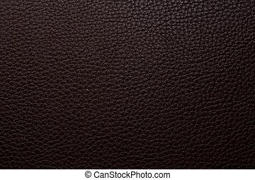 Dark brown leather background