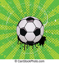 vector grunge illustration of soccer ball