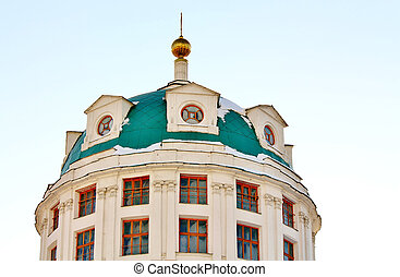 dome of the orthodox temple - Temple of Simeon Stolpik in...