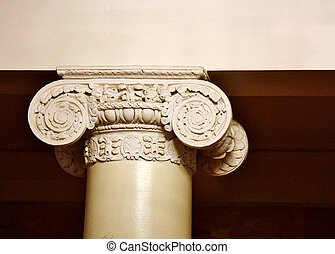 Ionic capitol - Element of the interior of mansion of the...